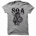 Shirt Sons Of Anarchy SOA grunge noir/gris pour homme et femme