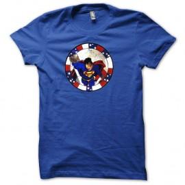 Shirt Superman bleu pour homme et femme