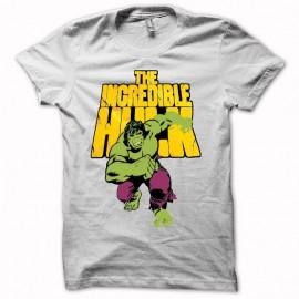 Shirt artwork L'incroyable HULK Bruce Banner blanc pour homme et femme