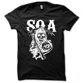 Shirt Sons Of Anarchy version SOA noir pour homme et femme