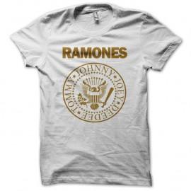 Shirt RAMONES blanc pour homme et femme