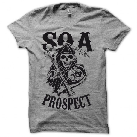 Shirt Sons Of Anarchy SOA version PROSPECT noir/gris pour homme et femme