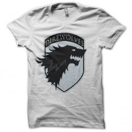 Shirt Le Trône de fer rare édition Game of thrones blanc pour homme et femme