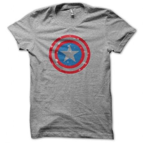 Shirt artwork Capt America vintage gris pour homme et femme