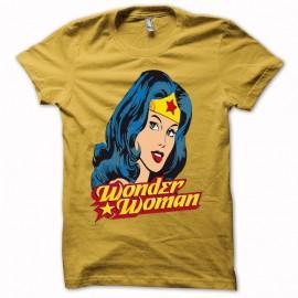 Shirt artwork Wonder Woman jaune pour homme et femme