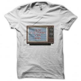 Shirt Les Nuls agad la té'évision é pis dors blanc pour homme et femme