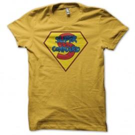 tee Shirt Super héro humour jaune pour homme et femme