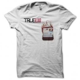 Shirt True Blood poche de sang blanc pour homme et femme