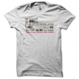 Shirt The Wire logo newspaper blanc pour homme et femme