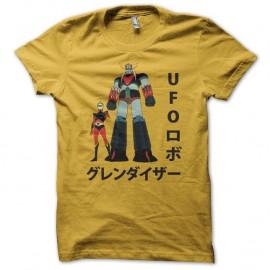 Shirt Goldorak UFO invasion jaune pour homme et femme