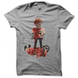 Shirt playmobyl zombies gris pour homme et femme