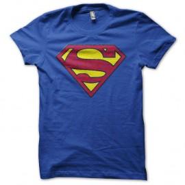 Shirt mytique Superman vintage avec effet vieux bleu pour homme et femme
