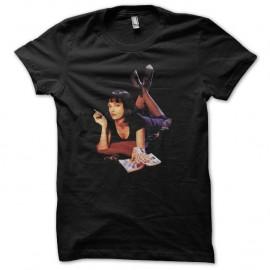 Shirt Pulp Fiction Mia Wallace Uma Thurman noir pour homme et femme