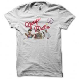 Shirt Les Inconnus Youpi matin blanc pour homme et femme