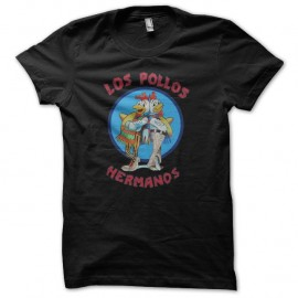 Shirt los pollos hermanos de breaking bad version noir pour homme et femme