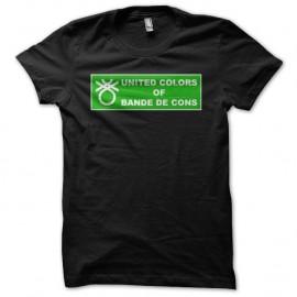 Shirt Les Inconnus United Colors of Bandes de Cons parodie Benetton noir pour homme et femme