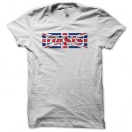 Shirt Oasis union jack blanc pour homme et femme