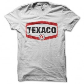 Shirt Texaco vintage blanc pour homme et femme