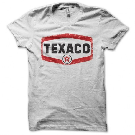 low cost release info on large discount T-shirt Texaco vintage blanc