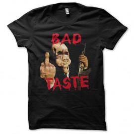 Shirt Bad Taste noir pour homme et femme