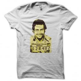 Shirt Pablo Escobar blanc pour homme et femme