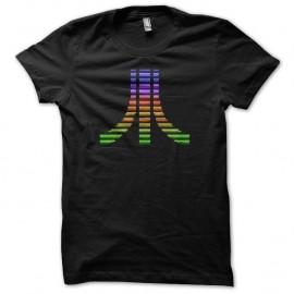 Shirt Atari pixel color noir pour homme et femme