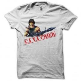 Shirt Rambo ça va chier version original color blanc pour homme et femme