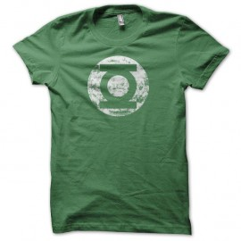 Shirt Green Lantern La Lanterne verte vintage grungy vert pour homme et femme