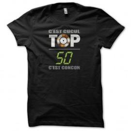 Shirt Les Inconnus Top 50 cucul concon noir pour homme et femme