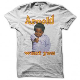 Shirt Arnold & Willy Arnold want you blanc pour homme et femme