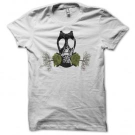 Shirt écologie masque à gaz arbres racines blanc pour homme et femme
