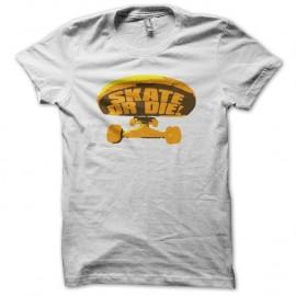Shirt Skate SK8 or Die front nose blanc pour homme et femme