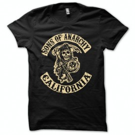Shirt Sons Of Anarchy collection california noir pour homme et femme