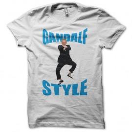 Shirt Gandalf Style parodie gangnam blanc pour homme et femme