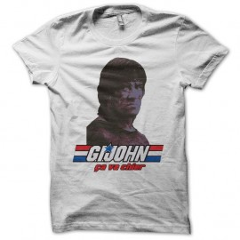 Shirt GI Joe parodie Rambo ça va chier blanc pour homme et femme