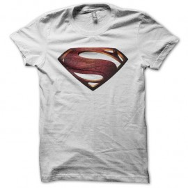 Shirt Superman Man of Steel vintage blanc pour homme et femme