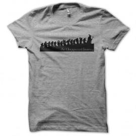 Shirt The Hobbit An Unexpected Journey gris pour homme et femme