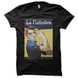 Shirt la fistiniere humour fist noir pour homme et femme