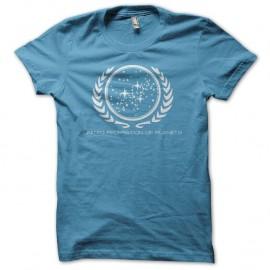 Shirt Star Trek United Federation of Planets bleu turquoise pour homme et femme