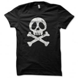 Shirt manga Albator tete de mort grungy noir pour homme et femme