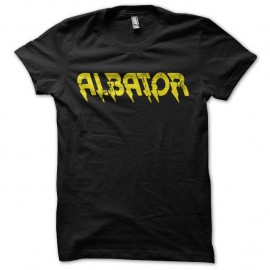 Shirt manga Albator texte vieillit noir pour homme et femme