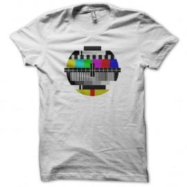 Shirt Mire Télévision blanc pour homme et femme