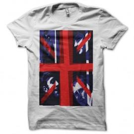 Shirt Blur Union Jack blanc pour homme et femme