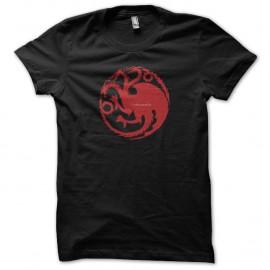 Shirt Le Trône de fer Shirt Targaryen Game of thrones noir pour homme et femme