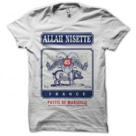 Shirt Pastis Allah Nisette blanc pour homme et femme