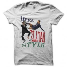 Shirt OPPA Zlatan Style parodie gangnam blanc pour homme et femme