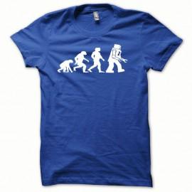 Shirt Lego Evolution blanc/bleu royal pour homme et femme
