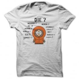 Shirt South Park parodie Kenny international blanc pour homme et femme