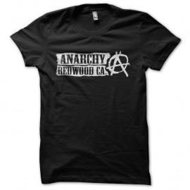 Shirt Sons Of Anarchy Redwood CA blanc/noir pour homme et femme