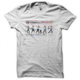 Shirt Gangnam Shitty Dance Lesson blanc pour homme et femme